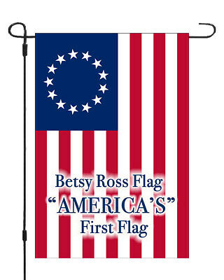 Betsy Ross Americas First Flag Garden Banner Patriotic 11x14-12x18 MADE IN USA