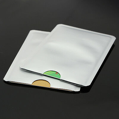 10x Credit  Protector Secure Sleeves RFID Blocking ID Holder Foil Shield