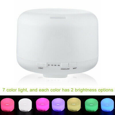 Oil Aroma Diffuser Ultrasonic Humidifier Air Mist Aromatherapy Purifier 500ML