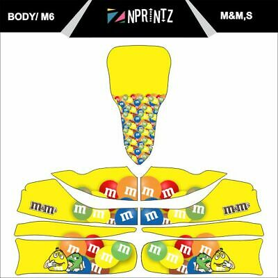 M6 M&M Full Kart Sticker Kit To Fit M6 Body - Karting