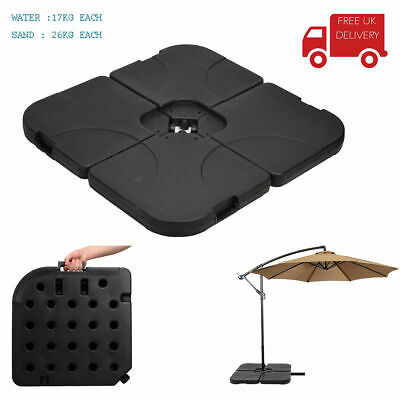 4X16Kg / 26Kg Resin Garden Patio Banana Cantilever Umbrella Parasol Base Weights