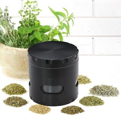 55mm Zinc Alloy Hand Crank Grinder Spice Herb Mill Crusher Tobacco Smoke Muller