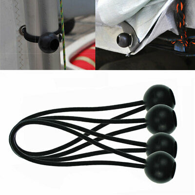 4Pcs Ball Flag Bungee Ties to attach Flag & Windsock to Poles Flag Pole Clip W1E