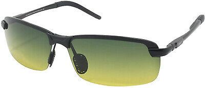Unbreakable Day And Night Driving Glasses HD Polarized Anti Glare Green Yellow