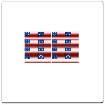 """16 Betsy Ross American Flag Stickers Wvpt-00061-T 1/2"""" X 1"""" Stickers"""