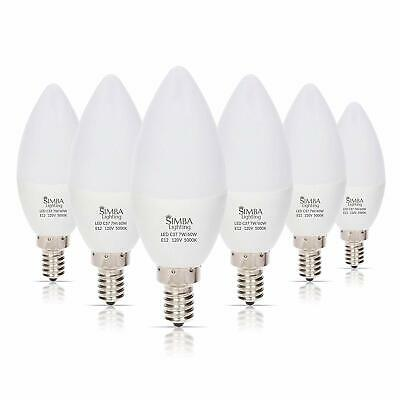 6 LED Candelabra Base Chandelier Bulb Light Bulbs E12 Daylight White 6W 60 Watt