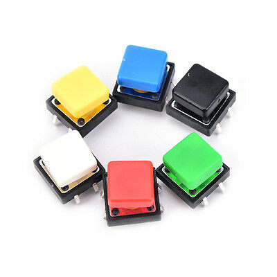 20PCS tactile push button switch momentary micro switch button with tact capBGS