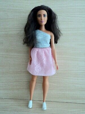 Barbie Fashionistas Powder Pink Lace Curvy Doll. No 65 in the Series