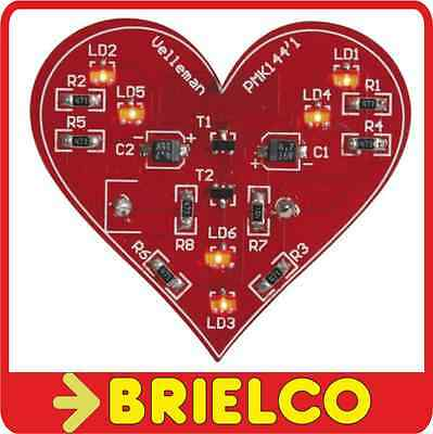 Kit Para Montar Corazon Intermitente Smd 6 Leds Rojos 3V Mk144 49X44X8Mm Bd406