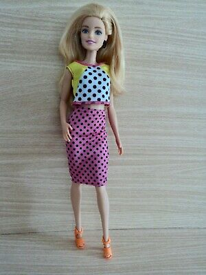 Barbie Fashionistas Doll in Polka Dot Skirt and Top with Accessories