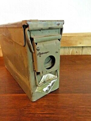 30 Cal Metal Ammo Can  Military Steel Box Shotgun Rifle Ammo Storage