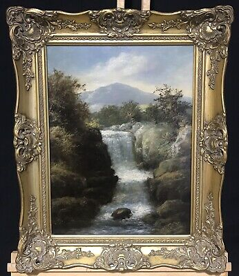 ROBERT MARSHALL (BRITISH 19th/20th CENTURY) FINE SCOTTISH OIL - CASCADING RIVER