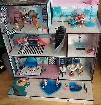LOL Surprise Doll House With 80+ Surprises Wooden Multi Story Colorful Girls