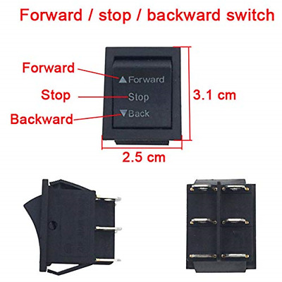 3 Pcs Forward Stop Backward Shift Powered Switch Childrens Replacement Parts US