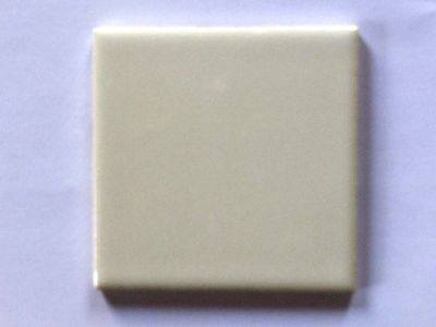 "z-850) 1 Pc Vintage Ceramic Floor Wall Tile 4 1/4"" Mtf White Glossy Smooth"