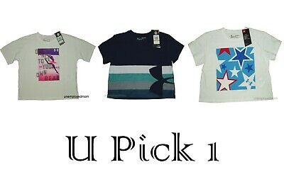 Under Armour Tee Top T Shirt Athletic Sports Active UA Girls Youth NWT BTS Crop