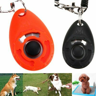 Puppy Practical Button Sound Wrist Strap Pet Training Tool Dog Whistle Plastic