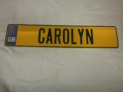 Great Britain England Blue Band Graphic # Carolyn Rear Full Size License Plate