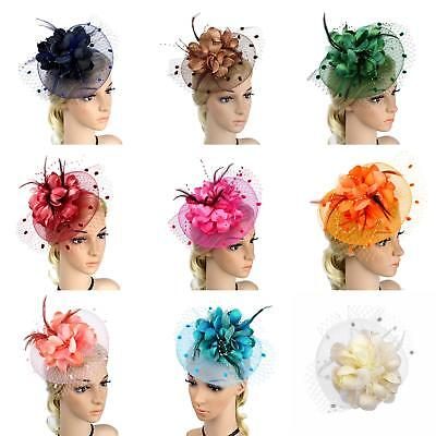 Eg _ Damen Headpiece & Fascinator Hut Feder Blumenmuster Haarspange Cocktail