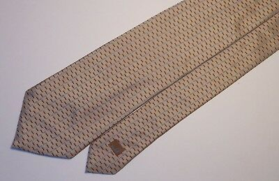 Dunhill Made In England Shinny Beige + Brown Dots Classy All Silk Tie. D164-8