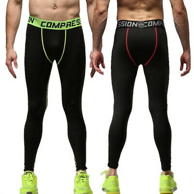 New Men Train Compression Tight Fit Pants Sports Run Exercise Fast-dry Legging