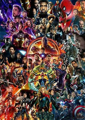 22 Marvel Cinematic Universe COLLAGE Avengers EndGame Movie poster 12x18 24x36