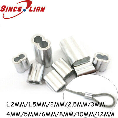 Aluminum Cable Crimps Sleeve 8-Shape Ferrule Crimping Loop Oval Wire Rope Cl WCS