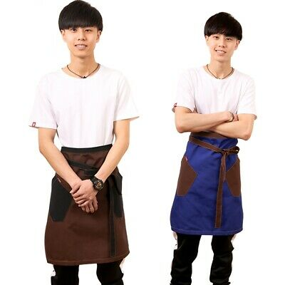 Unisex Apron Men Chef Waist Apron Stylish Style Restaurant Work Bib Pockets New