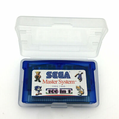 GBA 106 in 1 Game Card Cartridge for Nintendo Gameboy Advance SEGA Master System
