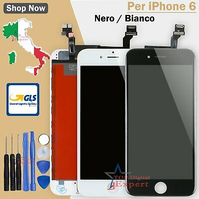 Bianco Nero Lcd Display Per Apple Iphone 6 Vetro Schermo Touch Screen Assembly