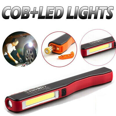 3W USB LED COB Inspection Lamp Light Flexible Rechargeable Torch Magnetic Pocket