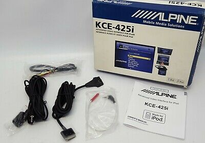 ALPINE KCE-425i Advanced Video Interface for iPod Accessories Only NOS#