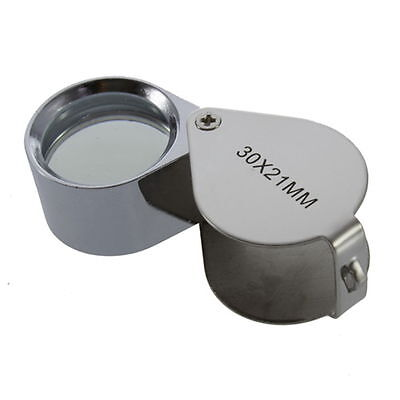 30X/40X Glass Magnifying Magnifier Jeweler Eye Jewelry Loupe Loop wA