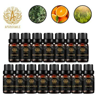 APHROSMILE 100% Pure & Natural Essential Oil For Aromatherapy Massage Oils 10ml