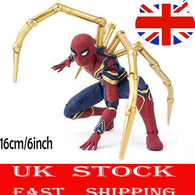 16CM Avengers 3 Infinity War Iron Spiderman Spider-Man Action Figure Toy Gif WCS