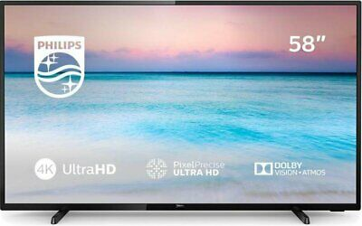 Philips 58 Inch 58PUS6504 4K Ultra HD HDR Freeview Play Smart WiFi LED TV