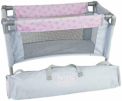 Chad Valley Tiny Treasures Doll's Travel Cot with Carrycase
