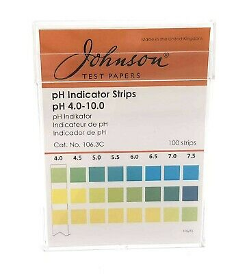 pH Indicator Strips pH 4.0 - 10 - 100 strips/pk