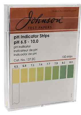 pH Indicator Strips pH 6.5 - 10.0 - 100 strips/pk