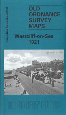 Old Ordnance Survey Map Westcliff On Sea 1921 Chalkwell Gordon Road Queens Hotel