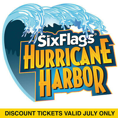 $34.00 Discount Six Flags Hurricane Harbor Concord, CA Tickets - Valid July Only
