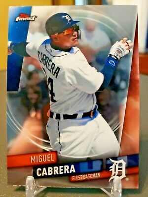 2019 Topps Finest #14 Miguel Cabrera Detroit Tigers
