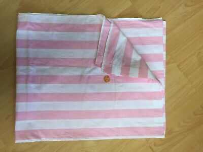 Vintage Candy Pink Large Stripe Double Sheet