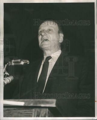 1962 Press Photo WalterKuehnle Represent Chicago RealEstate Board Budget Hearing