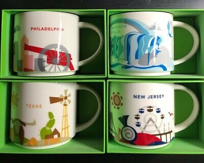 Starbucks You Are Here Collectible Mugs -- Multiple Cities, States, Countries