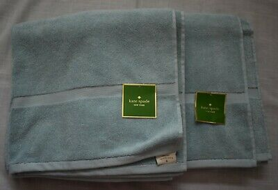 THREE PACK Katie Spade New York 56in x 30in Bath Towels Navy 100/% cotton