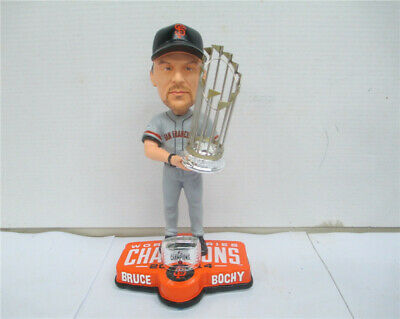 Bruce Bochy Bobblehead Giants 2014 World Series Ring Trophy Grey Jersey NEW