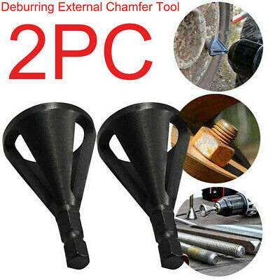 2pcs Deburring External Chamfer Tool Stainless Steel Remove Burr Drill Bit Tools