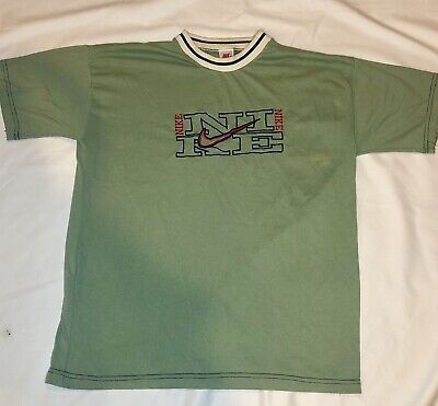 e34f4bb68cdc1 Rare Vintage Nike Spellout Short Sleeve T-Shirt Men's X-Large Green Made in