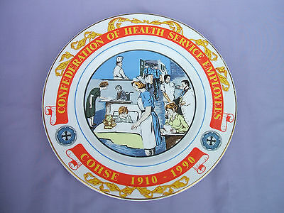 Confederation of Health Service Employees 80th Anniversary China Plate 1910-1990